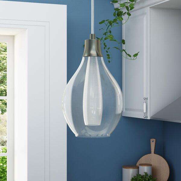 Aubrie 1-Light Teardrop Pendant by Ebern Designs