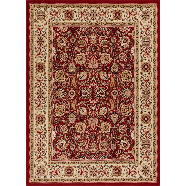 Persa Tabriz Oriental Persian Red/Beige Area Rug by Well Woven