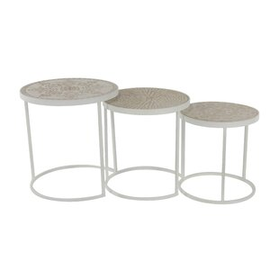Compare prices Okemah 3 Piece Nesting Tables ByBungalow Rose