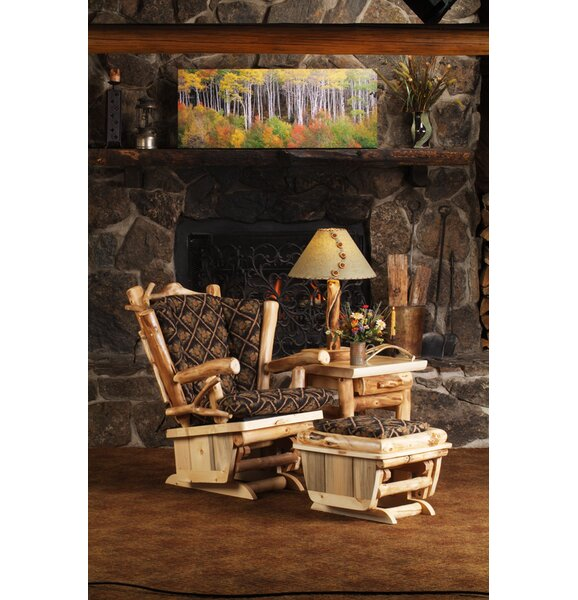 Ledesma Twig Art Glider And Ottoman By Millwood Pines