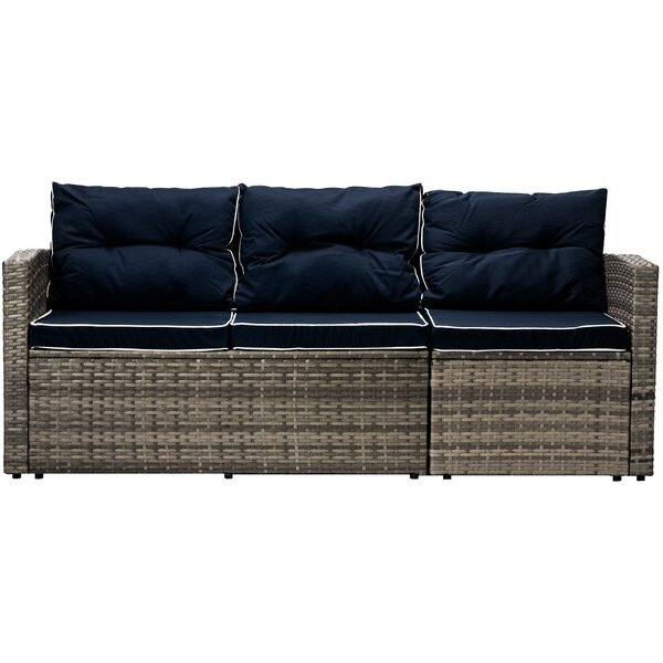 Mireya Patio Sofa with Cushions by Longshore Tides