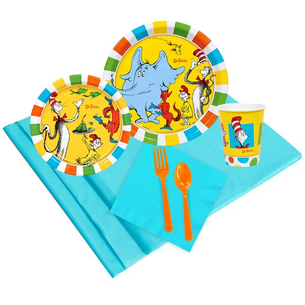 37 Piece Dr. Seuss Guest Party Paper and Plastic S