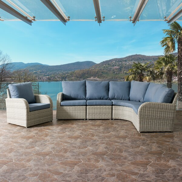 Killingworth 5 Piece Sectional Seating Group Set with Cushions by Rosecliff Heights