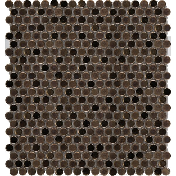 Confetti Porcelain Penny Mosaic Tile in Bronze by Emser Tile