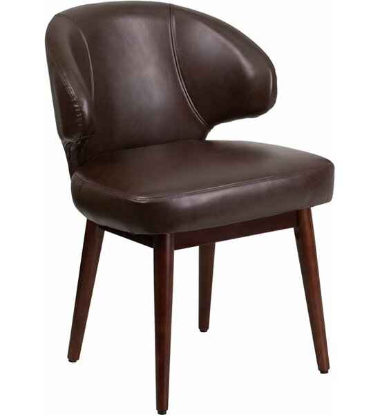 Mccrea Curved Back Leather Guest Chair by Latitude Run