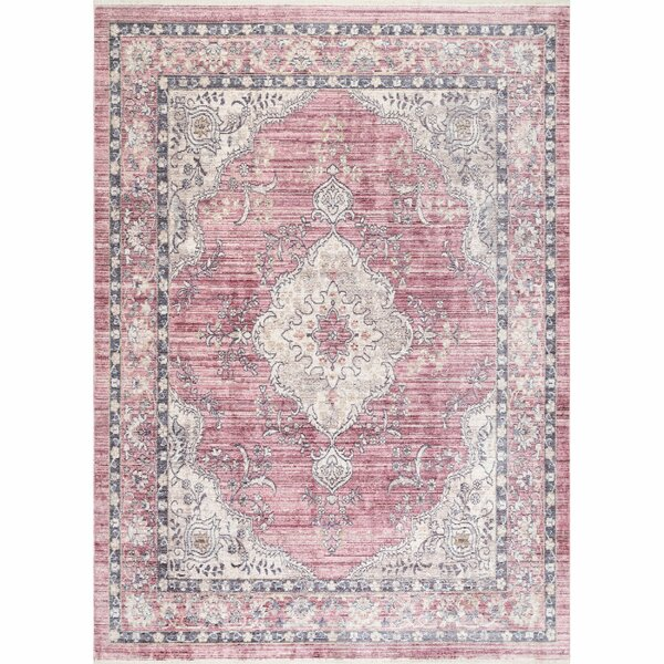 Wachapreague Pink Area Rug by Bungalow Rose
