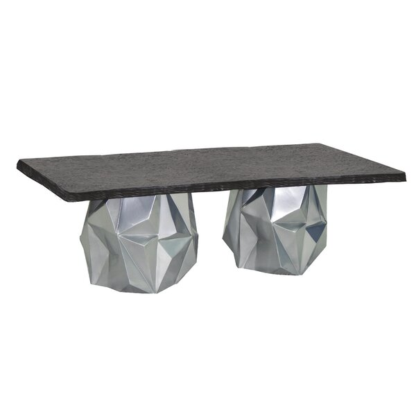 Arcadia Aluminum Dining Table by Leona
