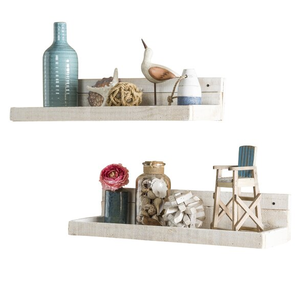 Kostya 2 Piece Floating Shelf Set by Laurel Foundry Modern Farmhouse