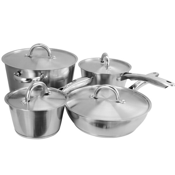 Warwick 8 Piece Stainless Steel Cookware Set by Oster