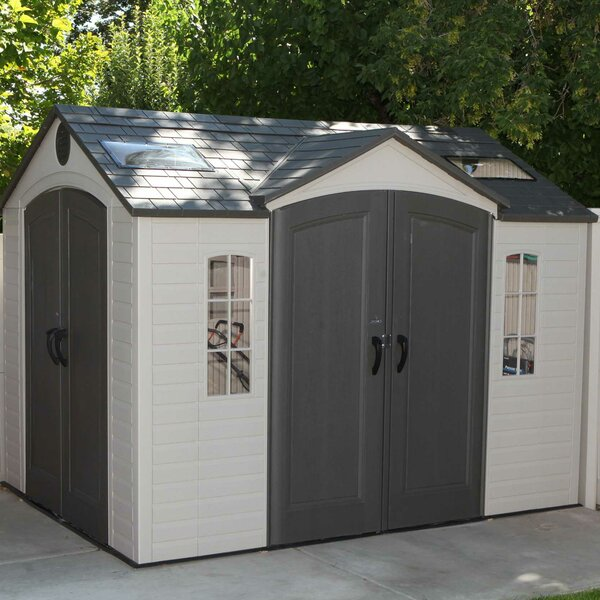 9 ft. 7 in. W x 7 ft. 7 in. D Steel Storage Shed by Lifetime