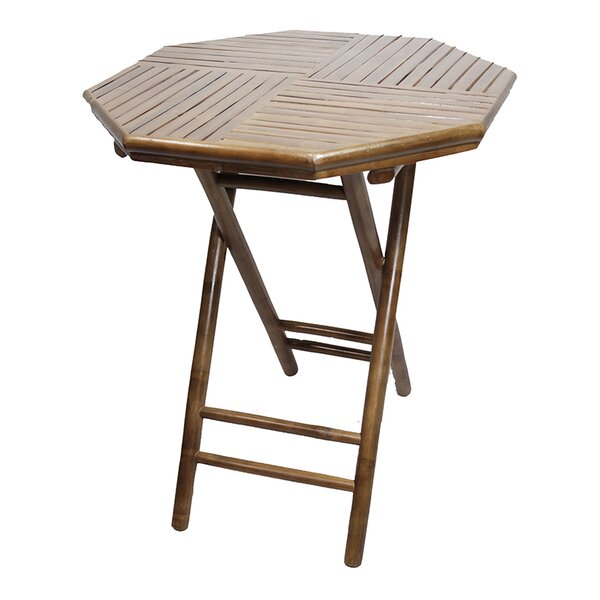 Abrams Folding Solid Wood Side Table by Bay Isle Home