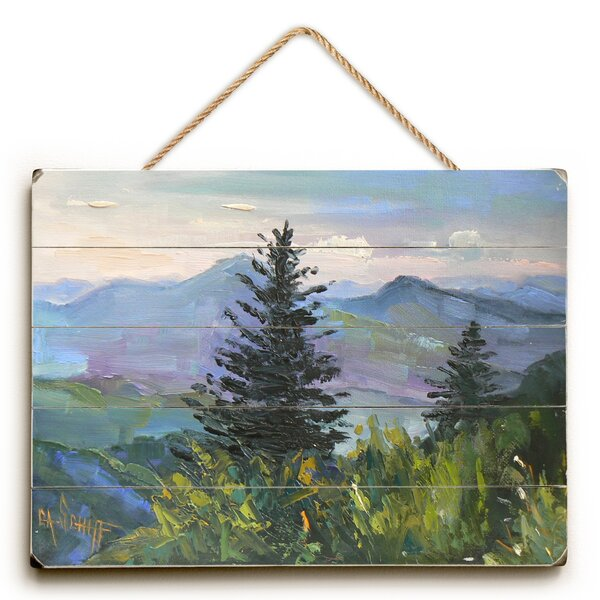 Wooded Landscape Painting Print by Loon Peak