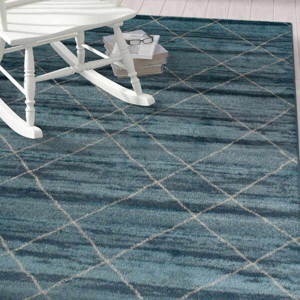 Janise Blue Area Rug by Beachcrest Home