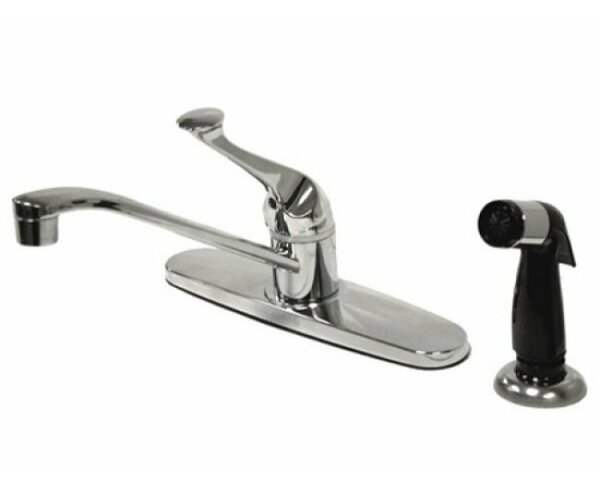Chatham Single Handle Kitchen Faucet With Spray By Kingston Brass