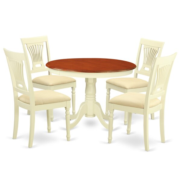 Artin 5 Piece Solid Wood Dining Set by Andover Mills