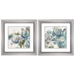 Watercolor Flowers' 2 Piece Framed Painting Print Set by Alcott Hill