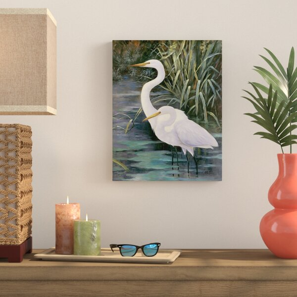 Snowy Egrets II Photographic Print on Canvas by Bay Isle Home