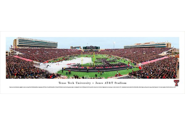 NCAA Texas Tech University by Christopher Gjevre Photographic Print by Blakeway Worldwide Panoramas, Inc