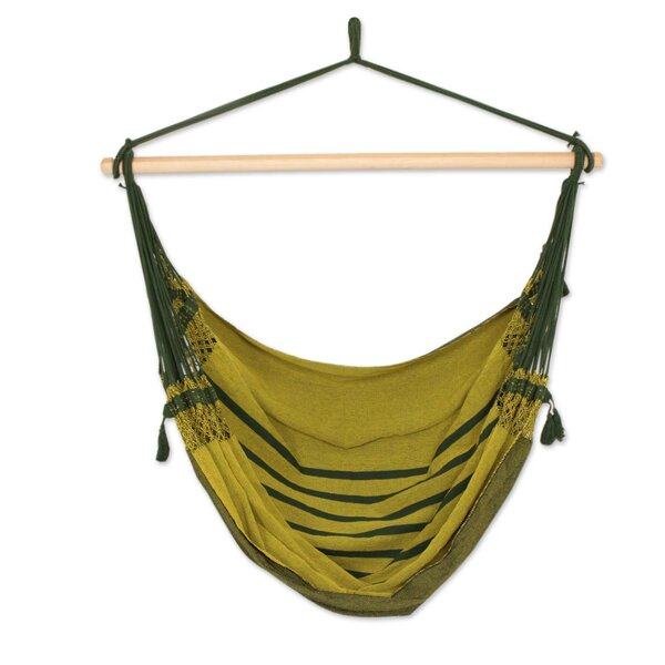Marietta Amazon Forest Cotton Swing Camping Hammock by Bloomsbury Market