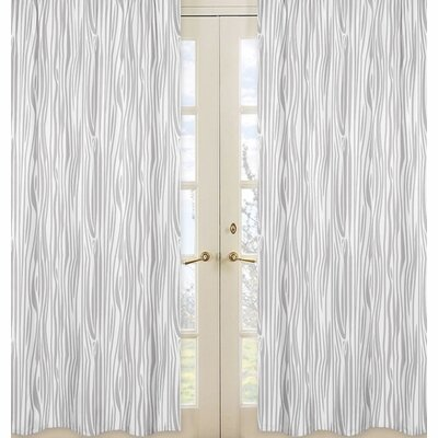 Woodland Deer Woodgrain Semi-Sheer Rod Pocket Curtain Panels (Set of 2) by Sweet Jojo Designs