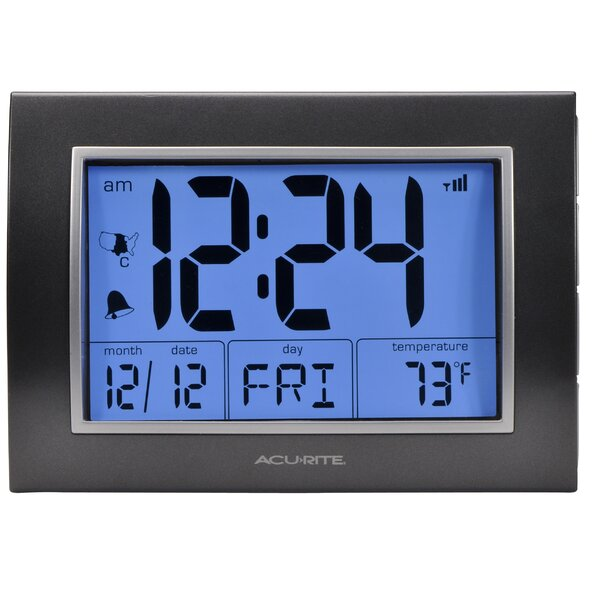 AcuRite LCD RCC Alarm Clock by Chaney