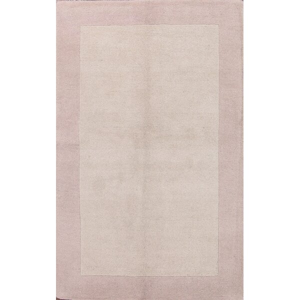 Bridgeview Gabbeh Oriental Hand-Tufted Wool Beige/Ivory Area Rug by Latitude Run