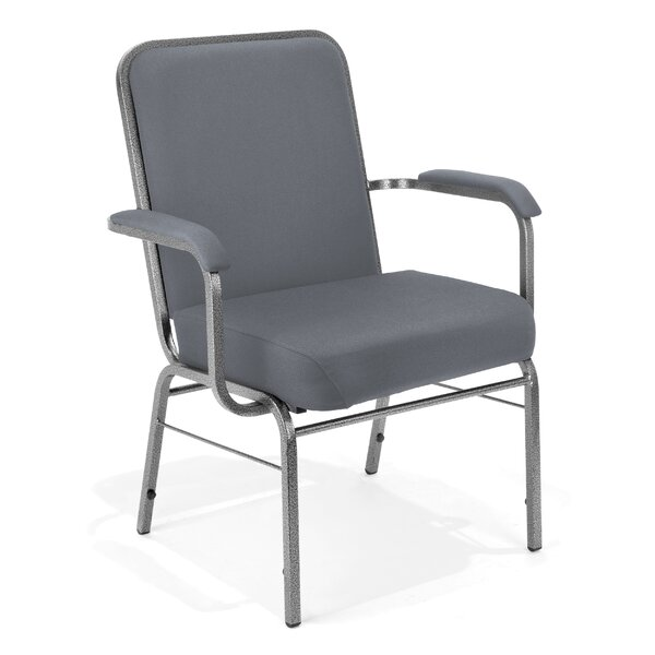 Big and Tall Mid-Back Stacking with Cushion Guest Chair by OFM