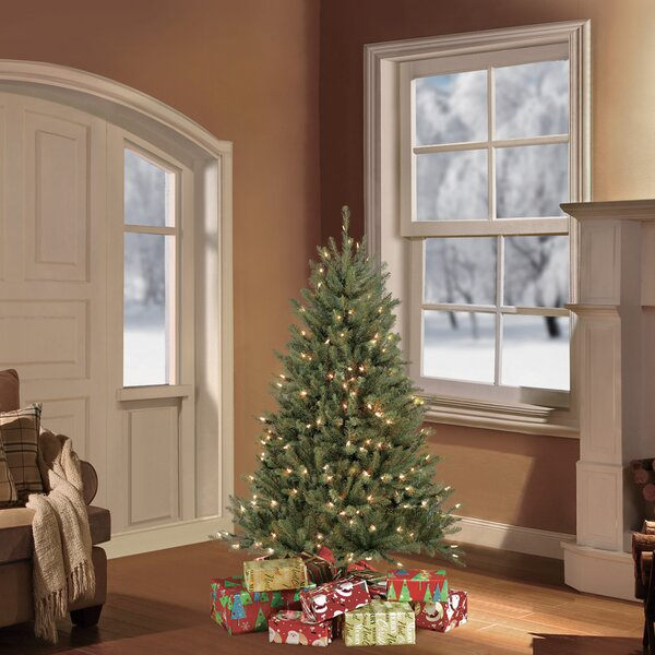 Green Fir Artificial Christmas Tree with 250 Clear