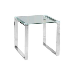 Stainless Steel and Glass End Table by Sageb..