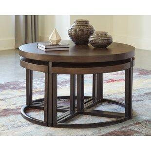 Astonishing Lizeth Coffee Table With 4 Nested Stools Evergreenethics Interior Chair Design Evergreenethicsorg