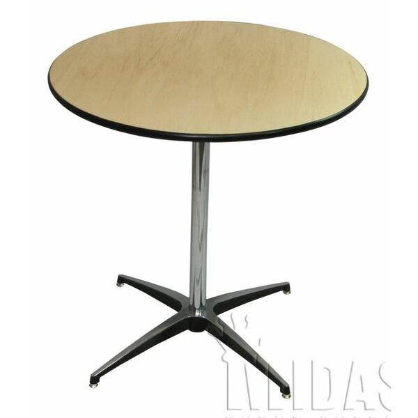 Elite Wood Table With Adjustable Post by Midas Event Supply
