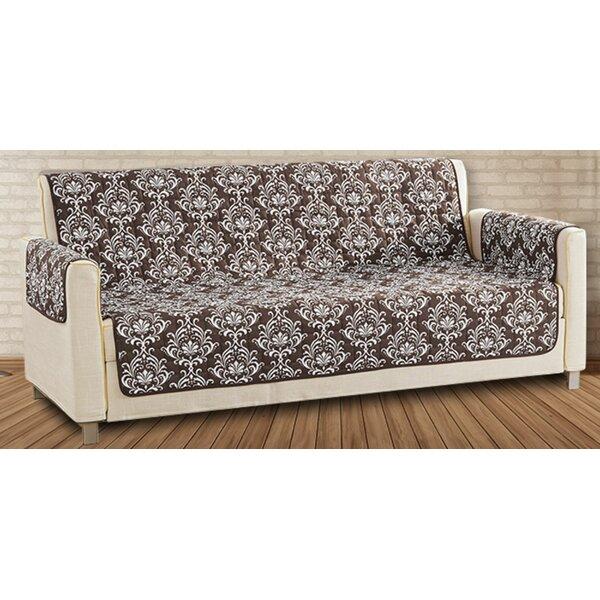 Printed T-Cushion Sofa Slipcover By Charlton Home