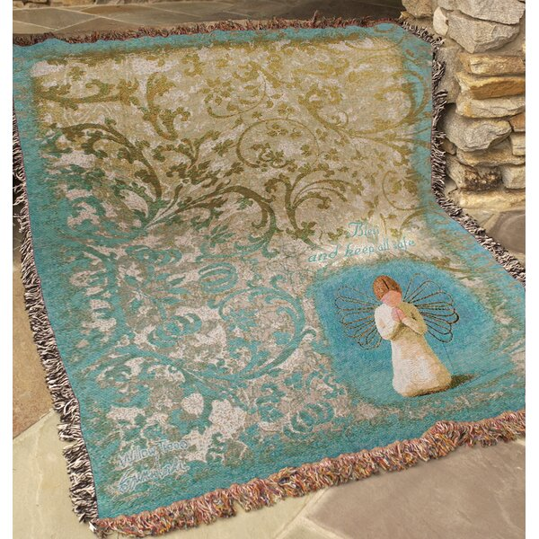 Willow Tree Angel Tapestry Cotton Throw by Manual Woodworkers & Weavers