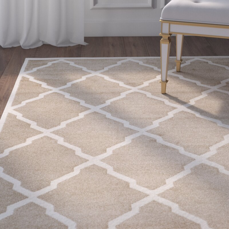 Willa Arlo Interiors Maritza Trellis Wheat Beige Indoor