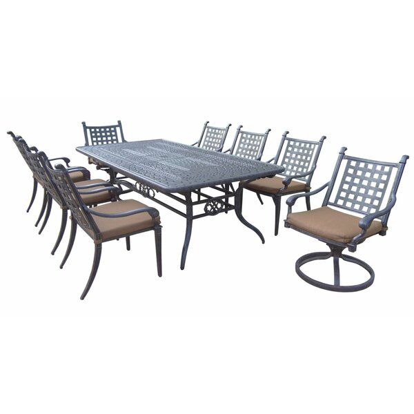 Arness 12 Piece Black Dining Set and Bistro Set by Darby Home Co