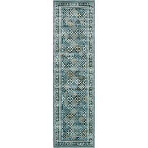 Miara Dark Blue Area Rug