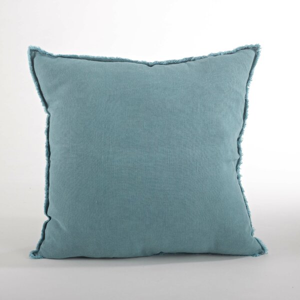 Graciella Linen Throw Pillow by Saro