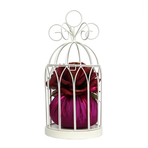 Birdcage Jewelry Hanger Roses Centerpiece by House of Hampton