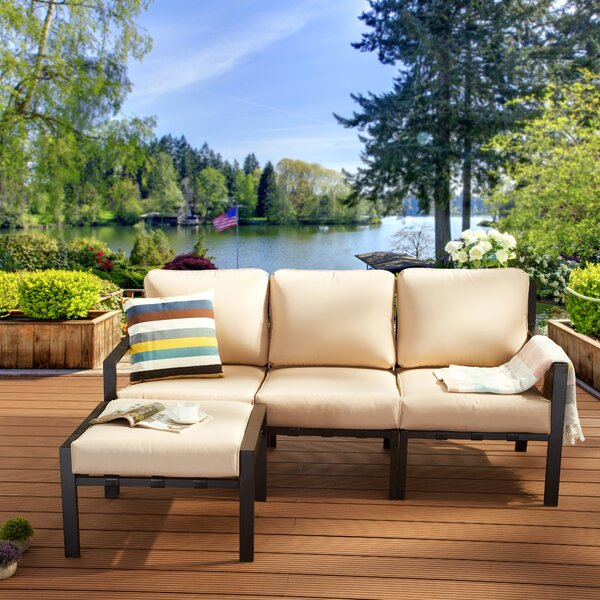 Wordsworth 4 Piece Sectional Seating Group with Cushions by Red Barrel Studio