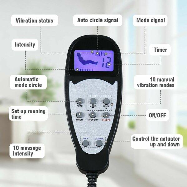Hudgins Electric Lift Massage Power Recliner Red Barrel Studio W000743216