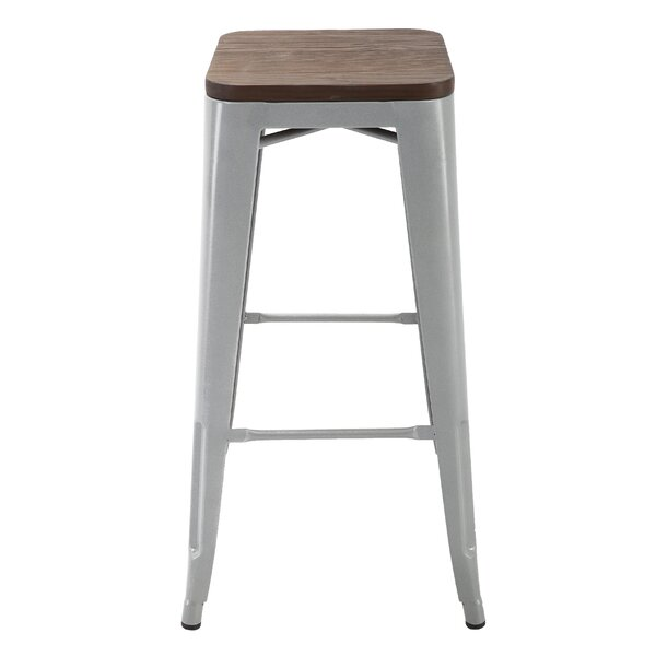 Hoefer 30.3 Bar Stool (Set of 4) by Williston Forge