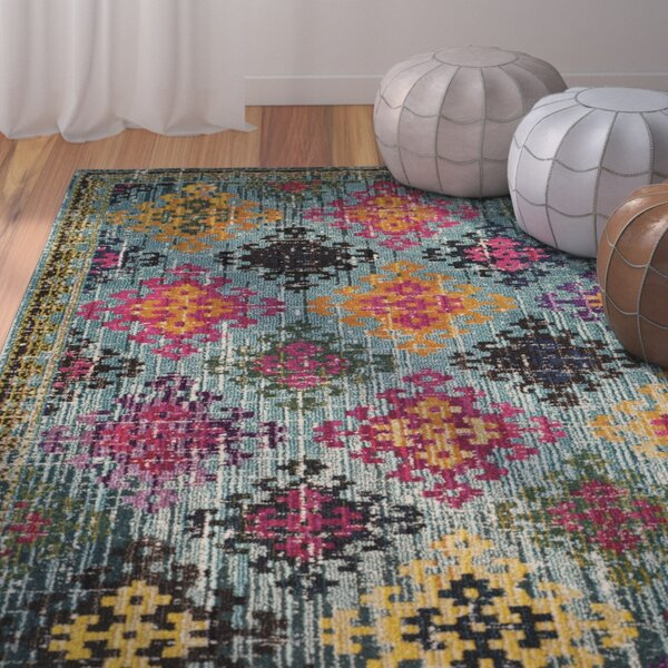 Chana Green/Pink Area Rug by Bungalow Rose