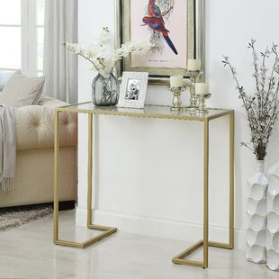 Dowling Glass Top Console Table By Ebern Designs