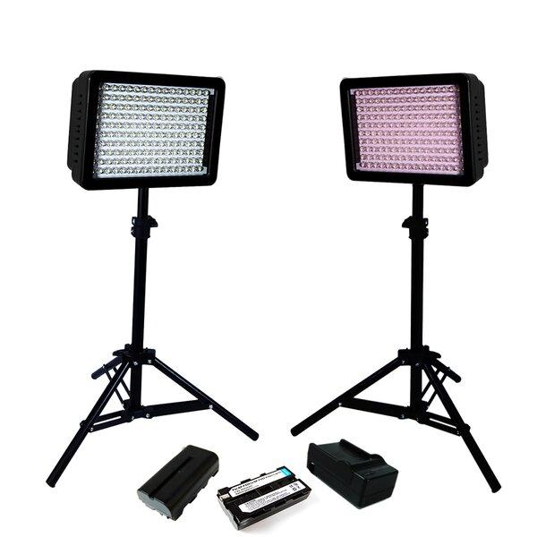 8 Piece LED Lighting Kit for Digital Photography Lense by Lusana Studio
