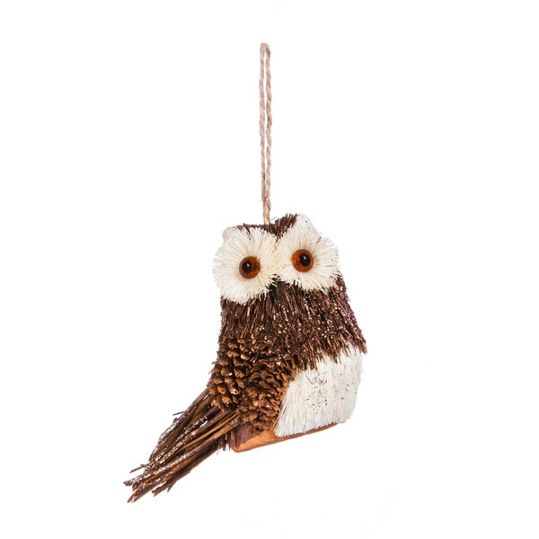 Sisal Owl Hanging Figurine by The Holiday Aisle