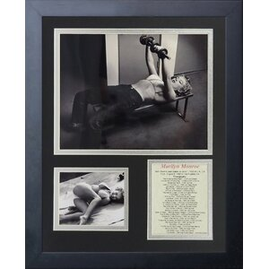 Marilyn Monroe Workout Framed Memorabili by Legends Never Die