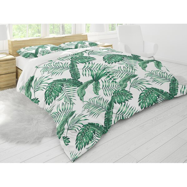 Micaela Tropical Leaves Comforter Set