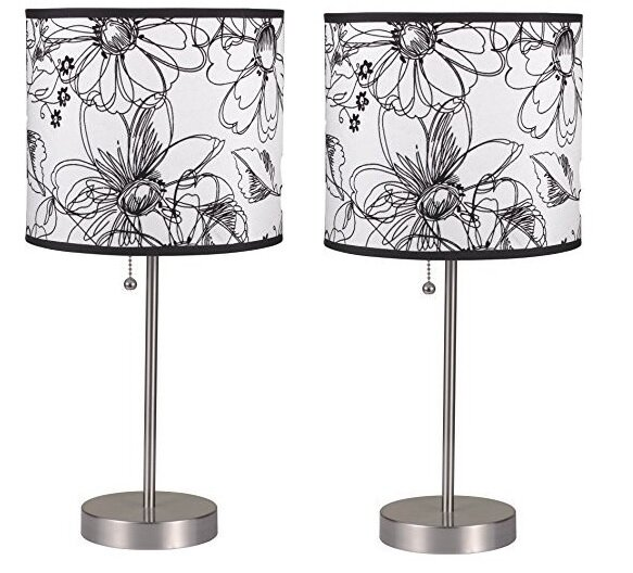 Daisha Pull 19 Table Lamp (Set of 2) by Latitude Run