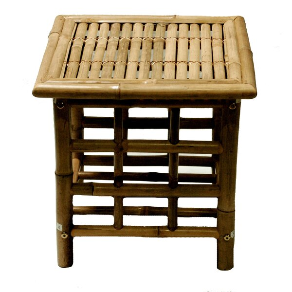 Josephine Bamboo Square Side Table by Beachcrest Home