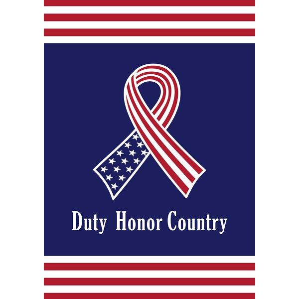 Duty, Honor, Country Garden flag by Toland Home Garden